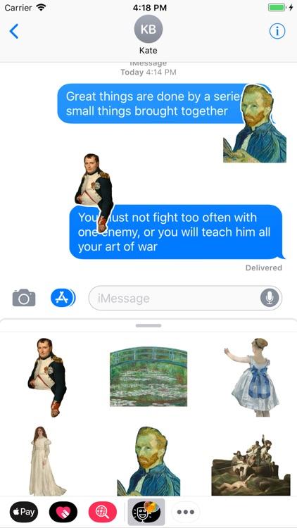 Fine Art Message Stickers