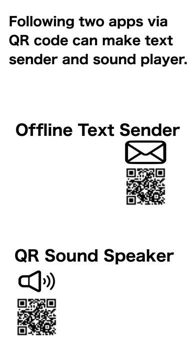 Screenshot of Offline Text Sender App