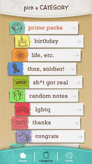 justWink Greeting Cards Screenshot