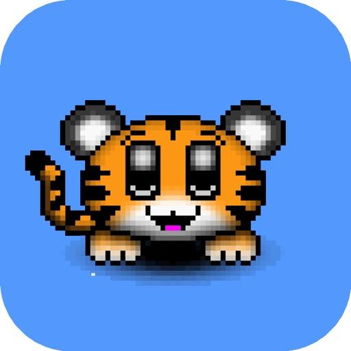 Cuties Anim Stickers - Tiger