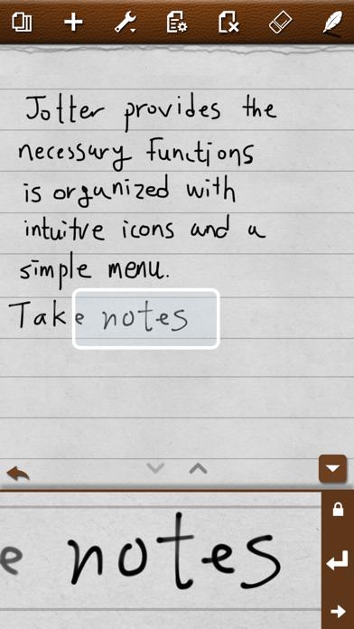Jotter (Handwriting Notepad) screenshot two