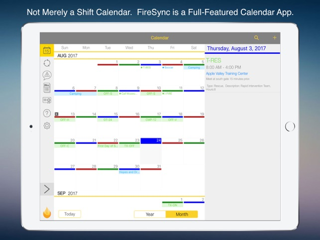 FireSync Shift Calendar on the App Store