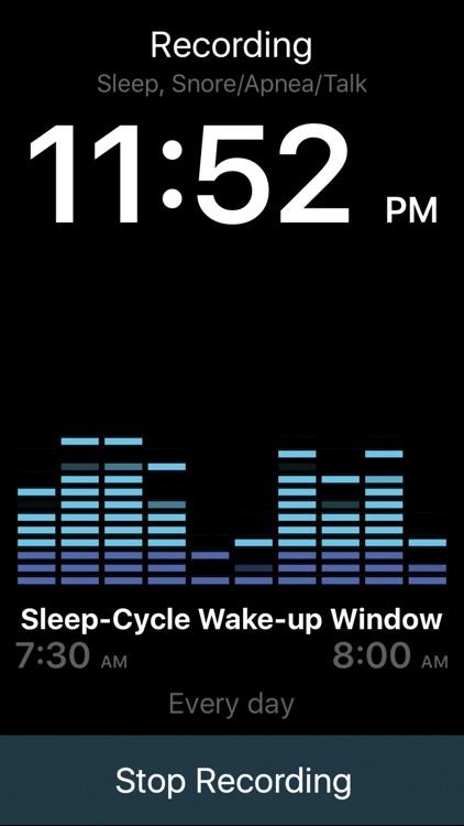 Sleeptracker® 24/7 standalone sleep tracker, alarm screenshot-3