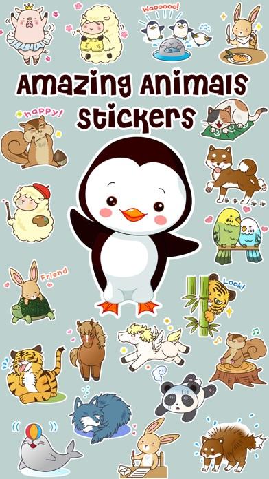 Amazing Animals Stickers screenshot one