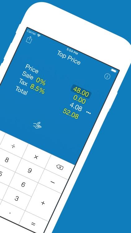 Top Price Sales Tax Calculator