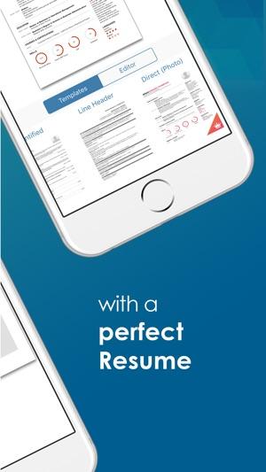 resume builder go2job resume をapp storeで