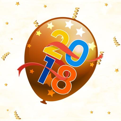 Hello 2018 New Year Sticker