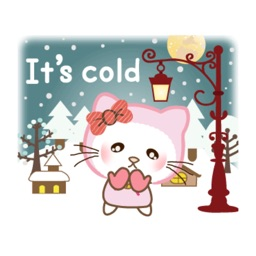 Kitty Winter Animated Stickers