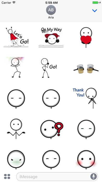 Animated Funny StickMan Emoji