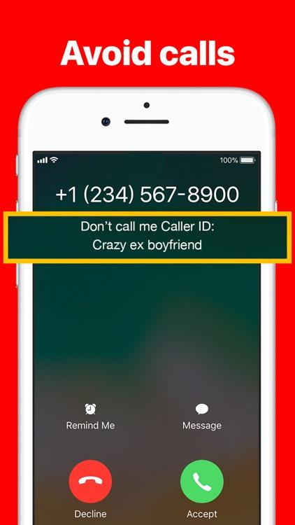 Don't call me
