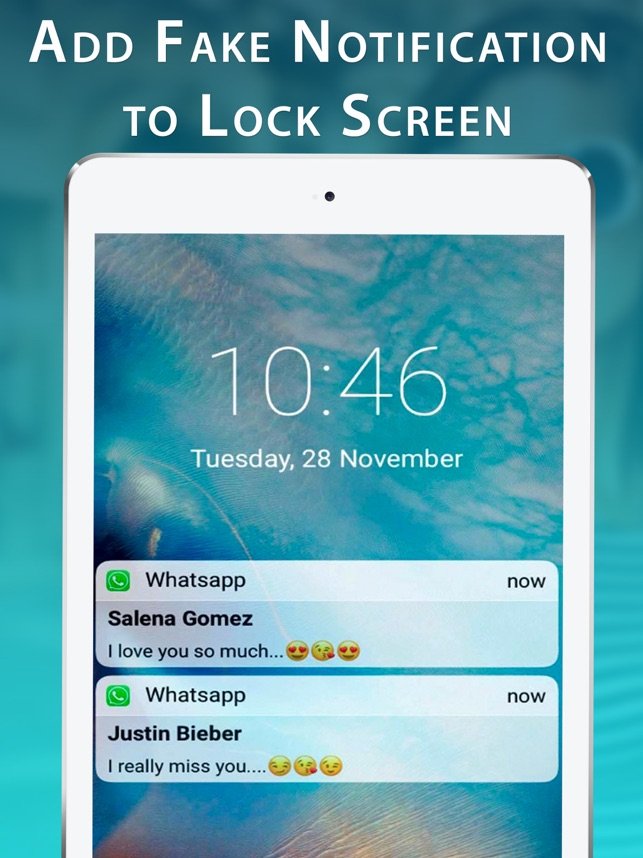 Fake Messages for Lock Screen on the App Store