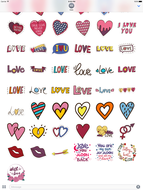 Love Stickers + Quotes - 80's Vintage & Retro Set screenshot 9