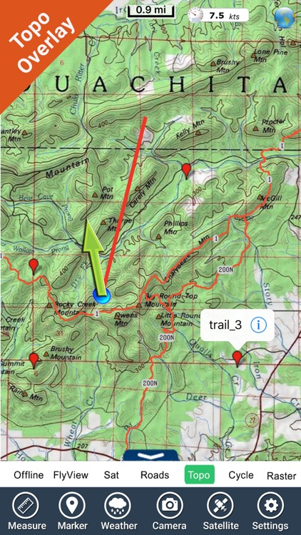 Ouachita National Forest gps and outdoor map