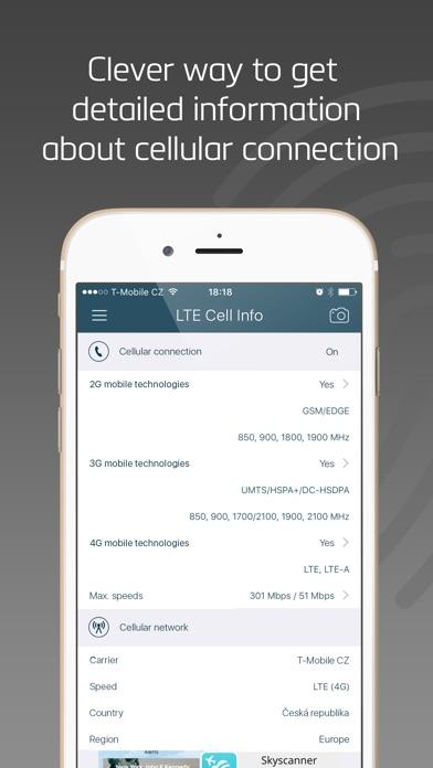 LTE Cell Info: Network Status Screenshots