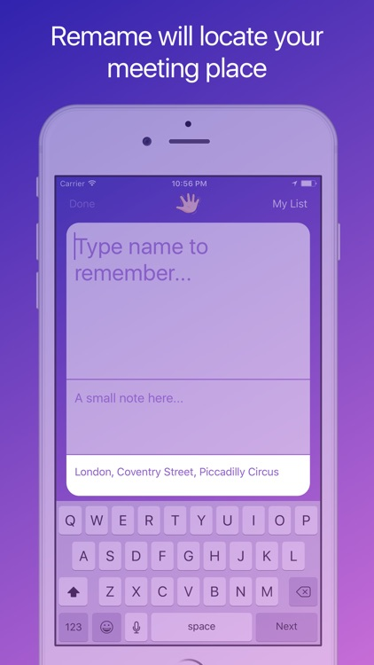 Remame – Save and remember people names