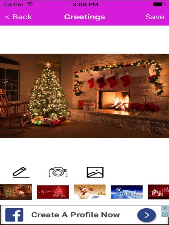 Christmas greeting cards maker booth for wishes app price drops screenshot 1 for christmas greeting cards maker booth for wishes m4hsunfo