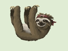 Slow Sloth Stickers