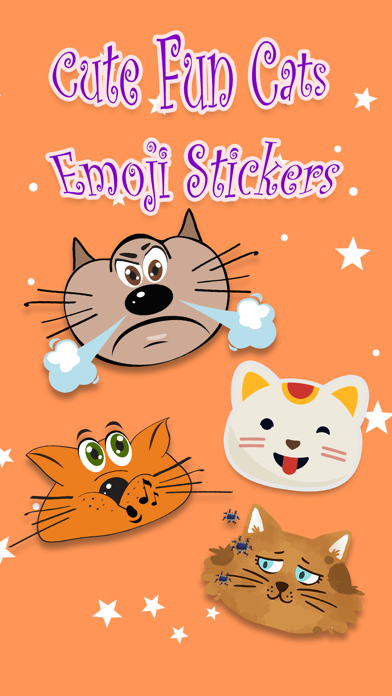 Cute Fun Cats Emoji Photo Stickers screenshot one