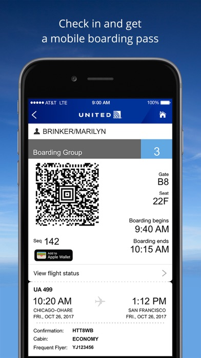 United Airlines iPhone