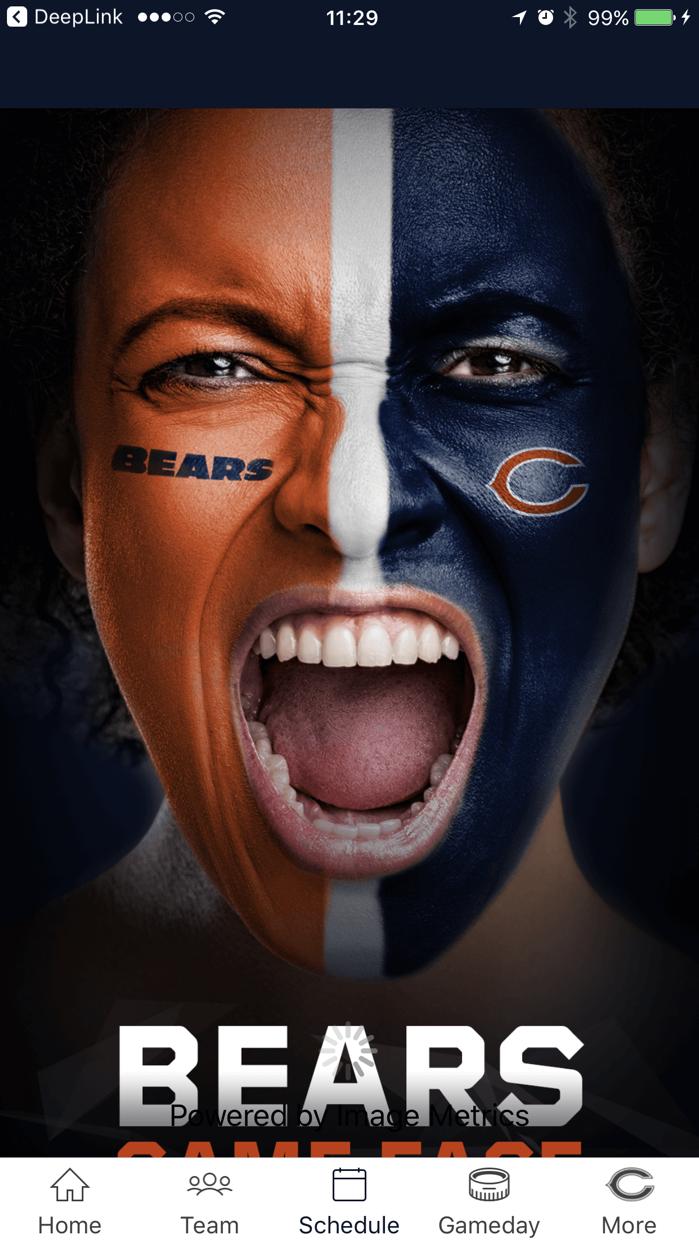 Chicago Bears Official App Screenshot