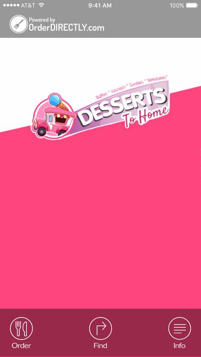 Desserts to Home screenshot one