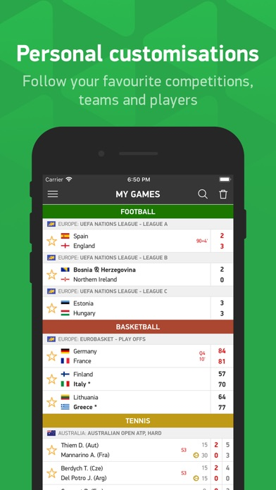 tenis flash score