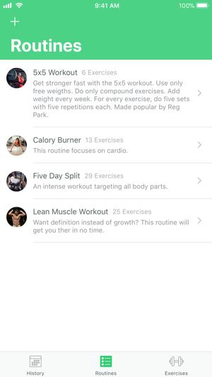 Fitrack Workouts Screenshot