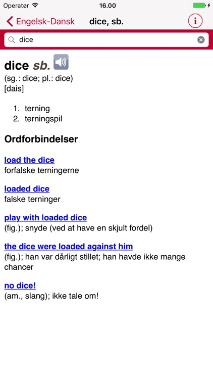 English Danish Dictionary - Large screenshot-3