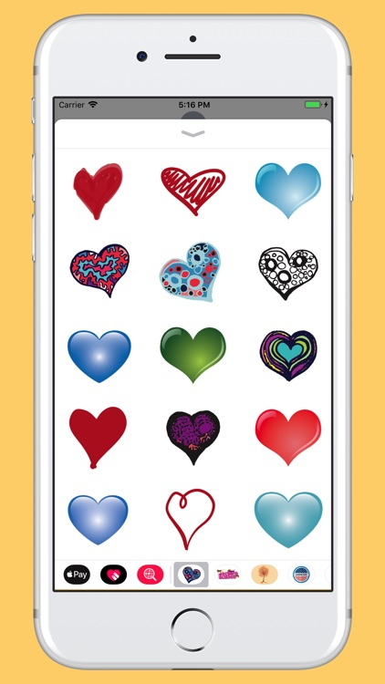 Hearts - Hand drawn pack
