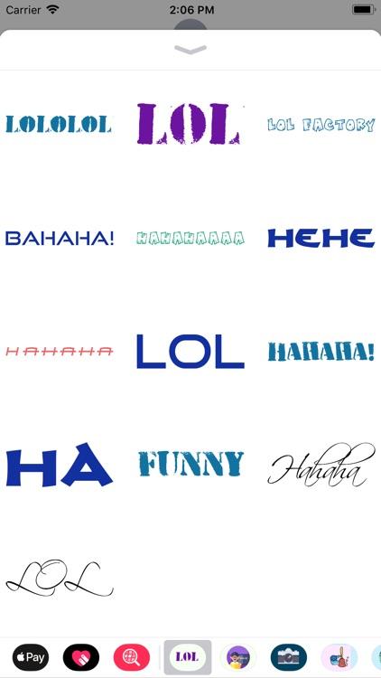 Joyful Laughter Stickers Lol!