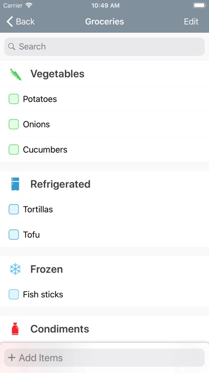 Caramel Grocery List screenshot-3