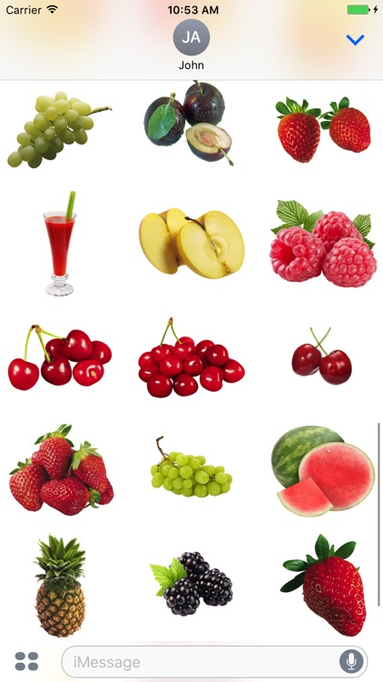Fruits Pack for iMessage!