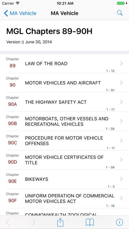 Massachusetts Vehicle Code