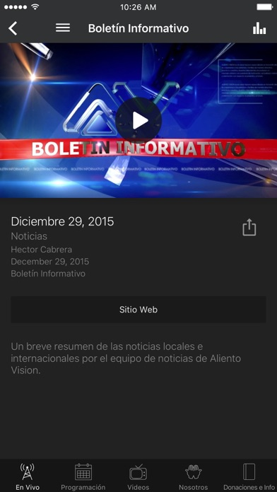 Aliento Vision TV Network screenshot two