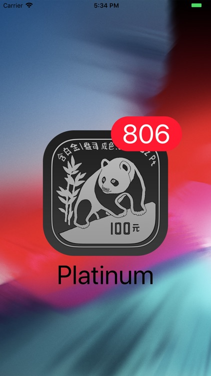 Platinum - Live Badge Price screenshot-0