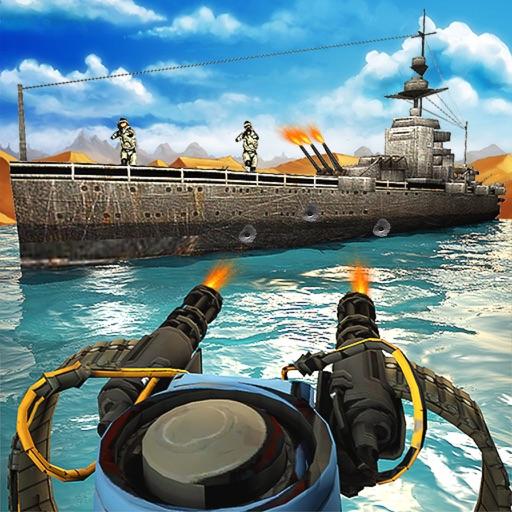 Navy Gunner Combat Shooting 3D iOS App