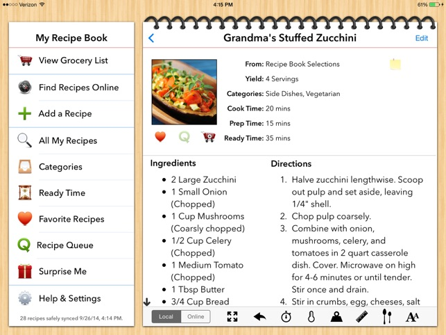 my recipe book organizer on the app store