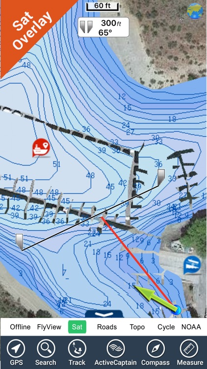 Franklin D. Roosevelt lake HD GPS fishing charts screenshot-0