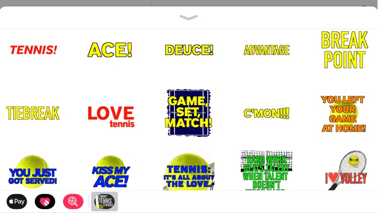 C'mon!!! Tennis Stickers
