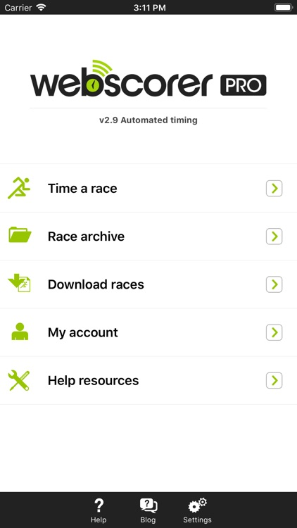 Webscorer Race & Lap Timer