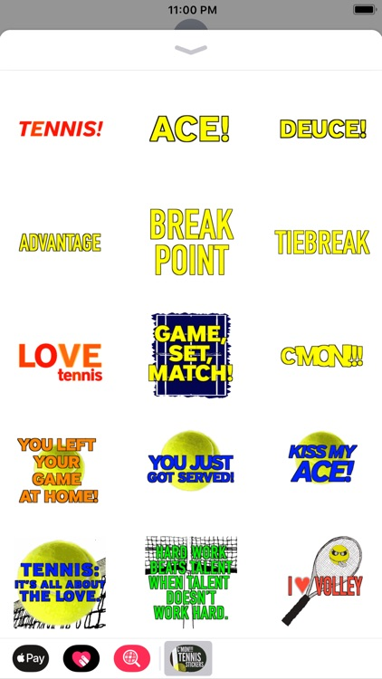 C'mon!!! Tennis Stickers screenshot-0