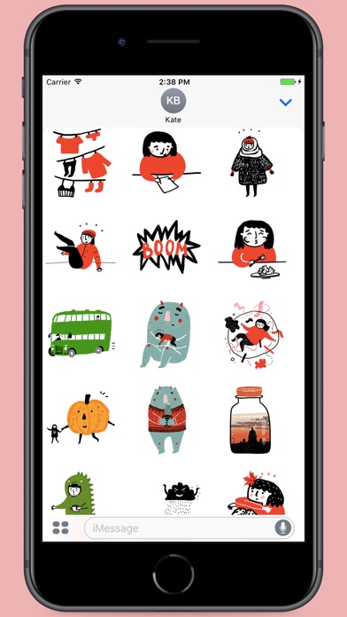Screenshot for Black Red White Stickers in Spain App Store