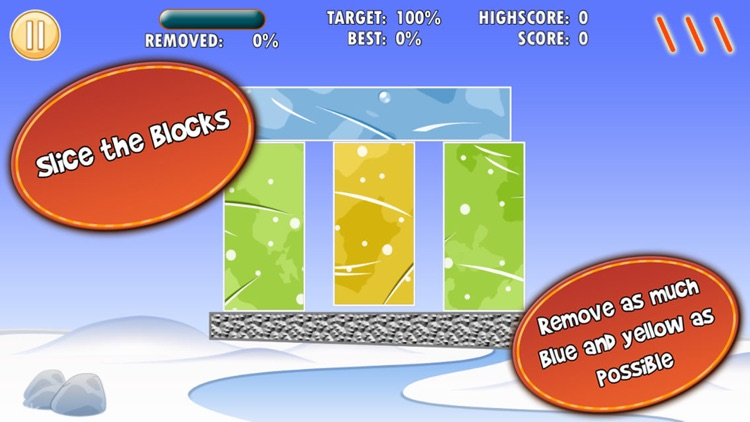 Cut Ice Blocks With Three Slices Pro screenshot-0