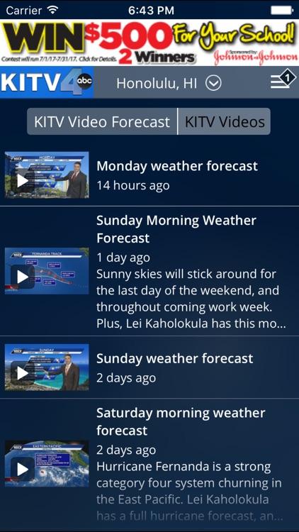 KITV Honolulu Weather-Traffic screenshot-3