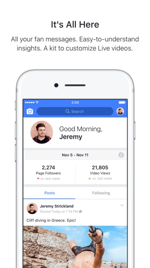 Facebook Creator On The App Store