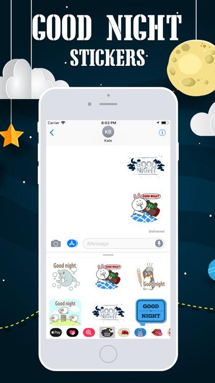 Good Night Emojis screenshot-3