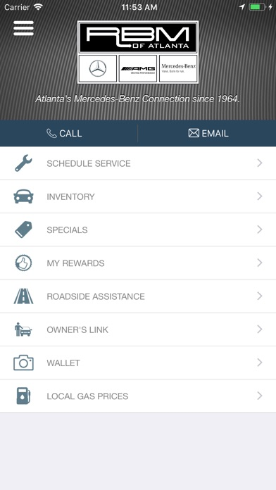 Rbm of atlanta mercedes benz free app for iphone ipad for Mercedes benz of south atlanta service coupons