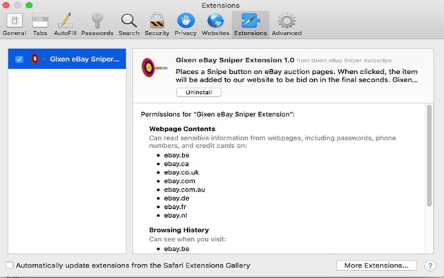 Ebay Gixen Sniper On The Mac App Store