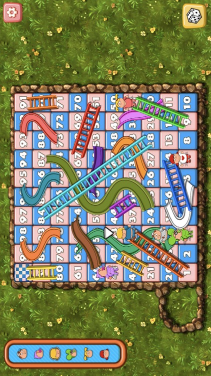 Snakes And Ladders Game.