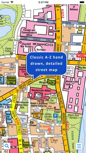Az London Street Map.Central London A Z Street Map
